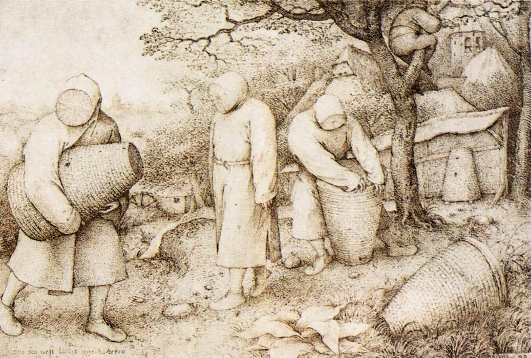 Wikioo.org - The Encyclopedia of Fine Arts - Painting, Artwork by Pieter Bruegel The Elder - The Beekeepers and the Birdnester