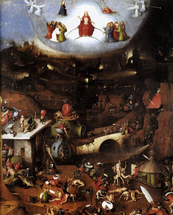 Wikioo.org - The Encyclopedia of Fine Arts - Painting, Artwork by Hieronymus Bosch - Triptych of Last Judgement (central panel)