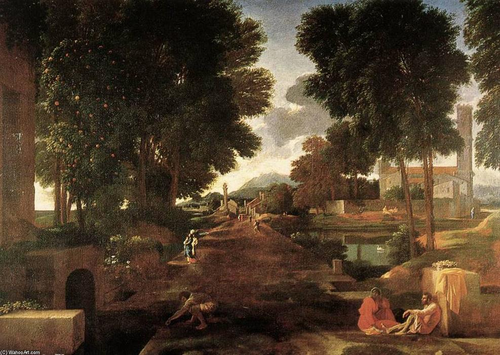 Wikioo.org - The Encyclopedia of Fine Arts - Painting, Artwork by Nicolas Poussin - A Roman Road