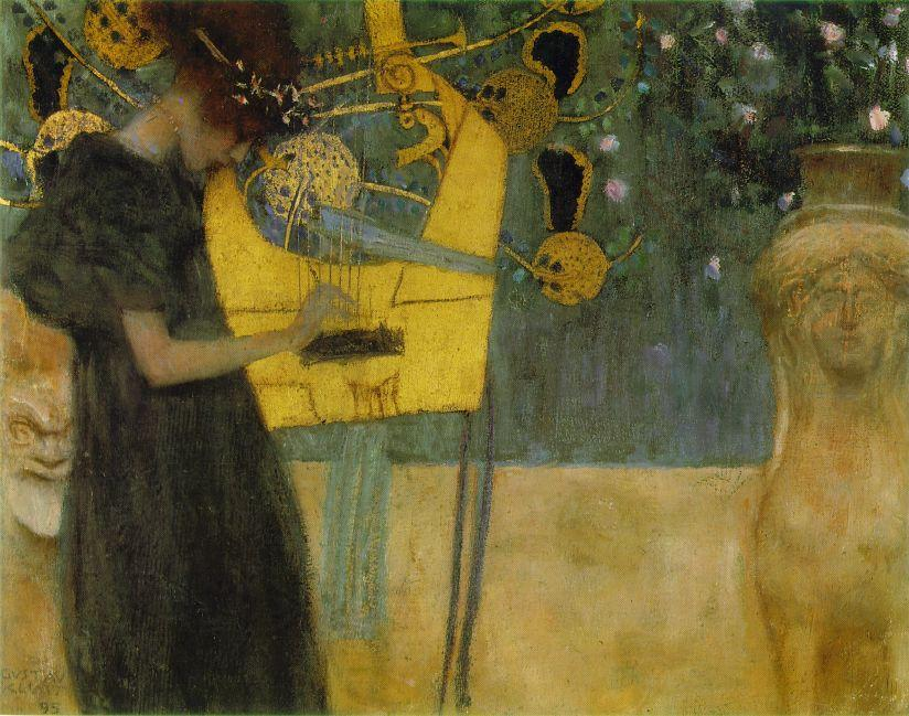 Wikioo.org - The Encyclopedia of Fine Arts - Painting, Artwork by Gustav Klimt - Music I