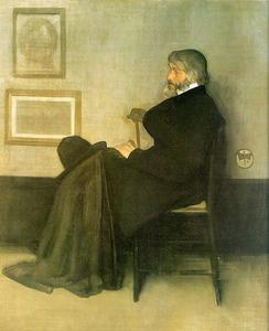 Arrangement in Grey and Black Number 2, Portrait of Thomas Carlyle