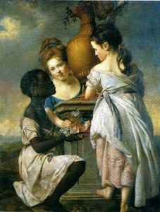 A Conversation of Girls (Two Girls with Their Black Servant)