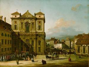 Die Freyung in Wien, Ansicht von Nordwesten