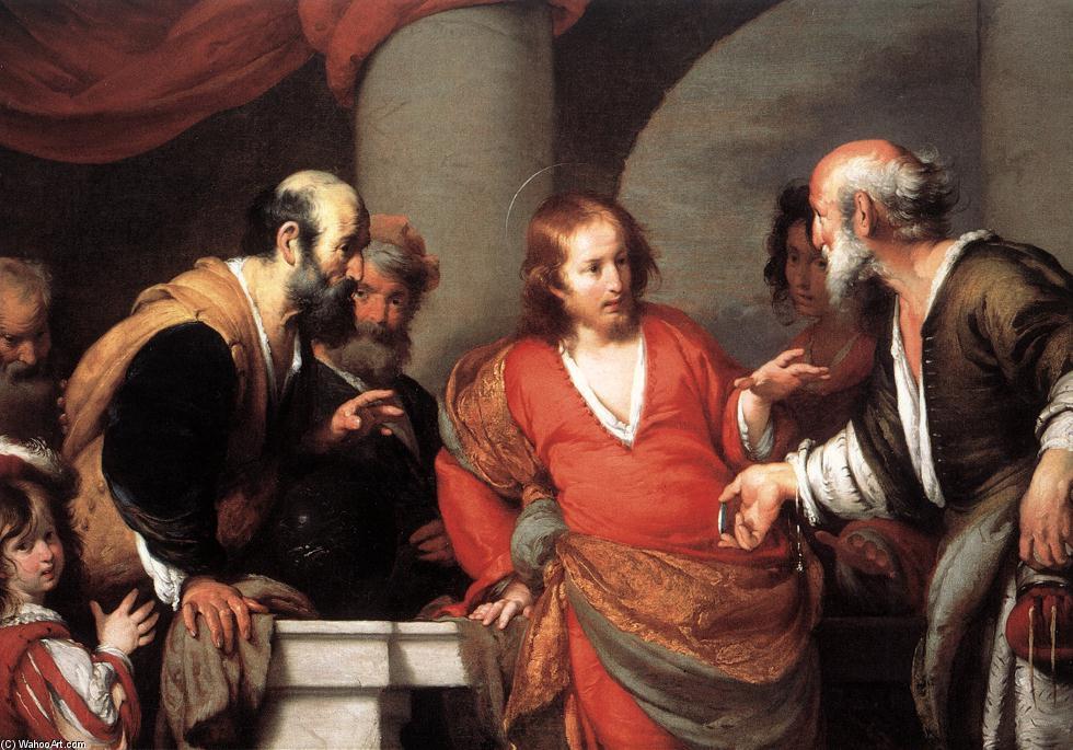 Wikioo.org - The Encyclopedia of Fine Arts - Painting, Artwork by Bernardo Strozzi - Tribute Money