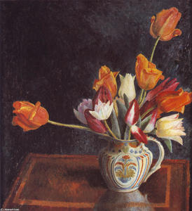 Tulips in a Saffordshire