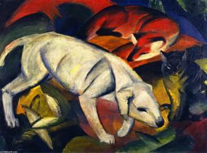 Three Animals (Dog, Fox and Cat)