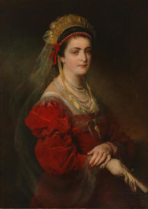 Portrait of Marie Paterno, née Nemetschke, the fourth and last wife of Amerling