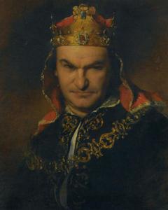 Retrato del actor Bogumil Dawson como Richard III