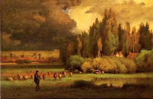 Shepherd in a Landscape