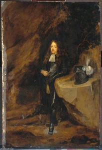 Portret van een man in harnas