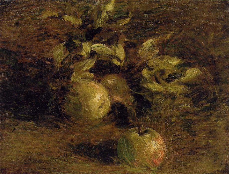 Wikioo.org - The Encyclopedia of Fine Arts - Painting, Artwork by Henri Fantin Latour - Apples