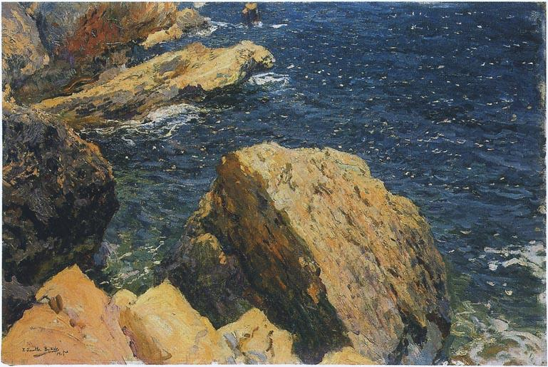 Wikioo.org - The Encyclopedia of Fine Arts - Painting, Artwork by Joaquin Sorolla Y Bastida - Rocks of the Cape, Javea