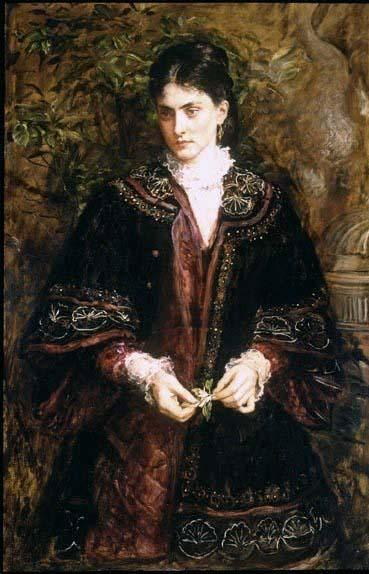 Wikioo.org - The Encyclopedia of Fine Arts - Painting, Artwork by John Everett Millais - Oh! that a dream so sweet, so long enjoy'd...