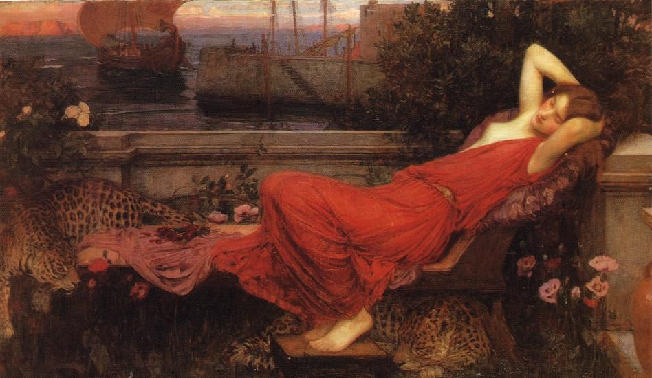 Wikioo.org - The Encyclopedia of Fine Arts - Painting, Artwork by John William Waterhouse - Ariadne