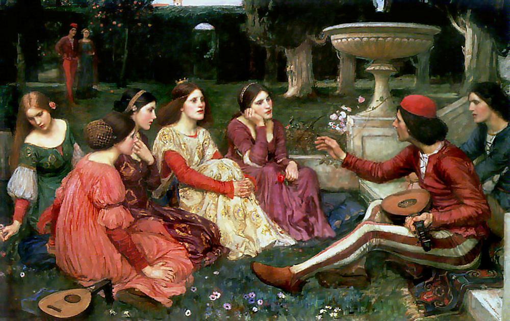 Wikioo.org - The Encyclopedia of Fine Arts - Painting, Artwork by John William Waterhouse - Tale from the Decameron