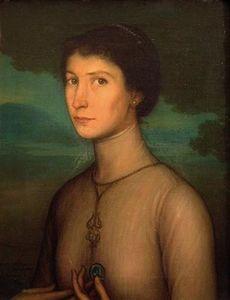 Boceto para el retrato de Ysolina Gállego