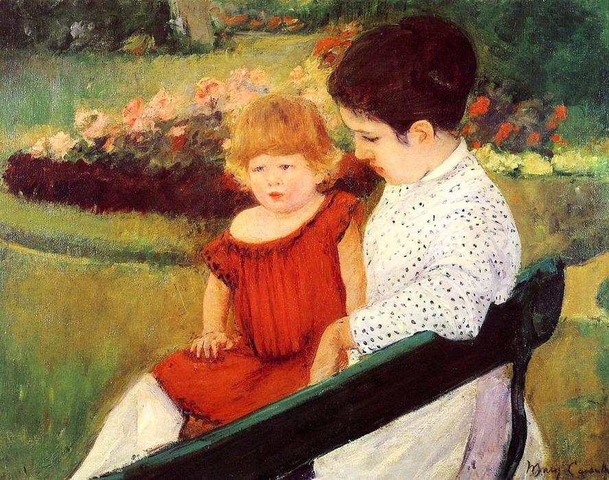 Wikioo.org - The Encyclopedia of Fine Arts - Painting, Artwork by Mary Stevenson Cassatt - In the park