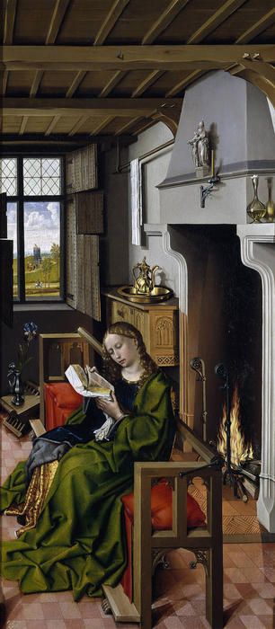Wikioo.org - The Encyclopedia of Fine Arts - Painting, Artwork by Robert Campin (Master Of Flemalle) - Saint Barbara