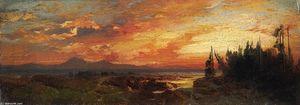 Sunset on the Great Salt Lake, Utah