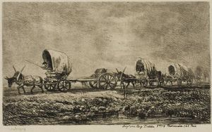 Covered Wagons (Souvenir of the Morvan)