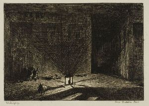 Interior of an Inn (The Corridor of an Inn)