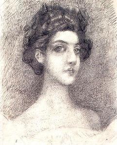 Portrait of Nadezhda Zabela-Vrubel 1