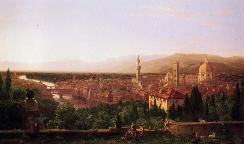 View of Florence from San Miniato - Thomas Cole