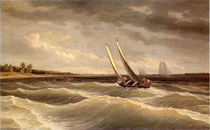 Boats Navigating the Waves