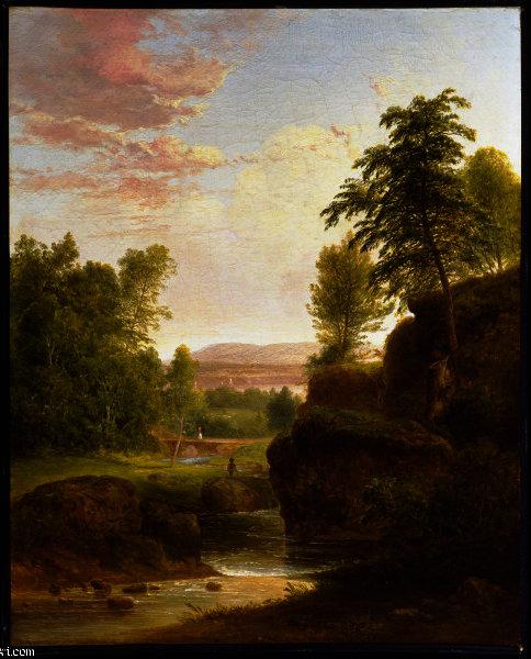 WikiOO.org - Encyclopedia of Fine Arts - Målning, konstverk Thomas Doughty - View Toward the Hudson River