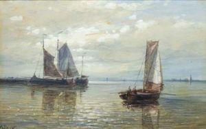 Sailing Vessels In A Calm
