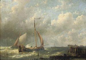 Ships Near A Jetty