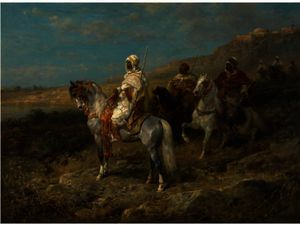 Arab Scouts On Horseback