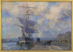 Navire norvégien dans le port de rouen