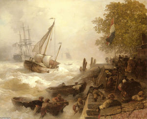 Hafeneinfahrt Bei Rauher See