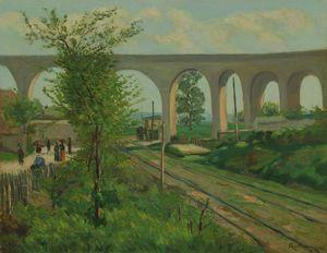 The Arcueil Aqueduct at Sceaux Railroad Crossing