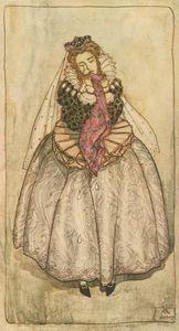 La duquesa derramó lágrimas grandes como los guisantes ósea en grasa