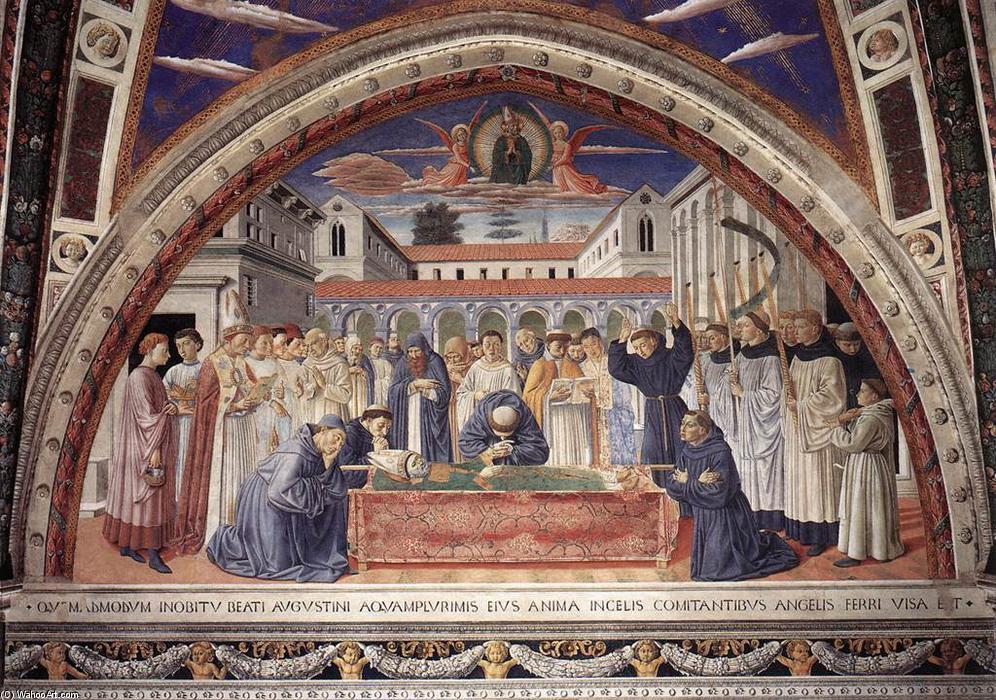 WikiOO.org - Encyclopedia of Fine Arts - Maleri, Artwork Benozzo Gozzoli - Funeral of St Augustine (scene 17, south wall)