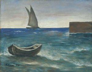 Marina con veliero e barca