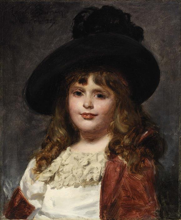Wikioo.org - The Encyclopedia of Fine Arts - Painting, Artwork by Carolus-Duran (Charles-Auguste-Emile Durand) - Laura at Seven