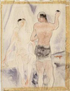 Two Figures. Turkish Bath