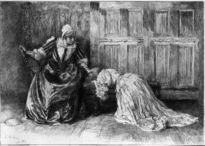 Ilustración para Barbara Allen Arrodillado en Sorrow