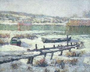 Snowbound Boats