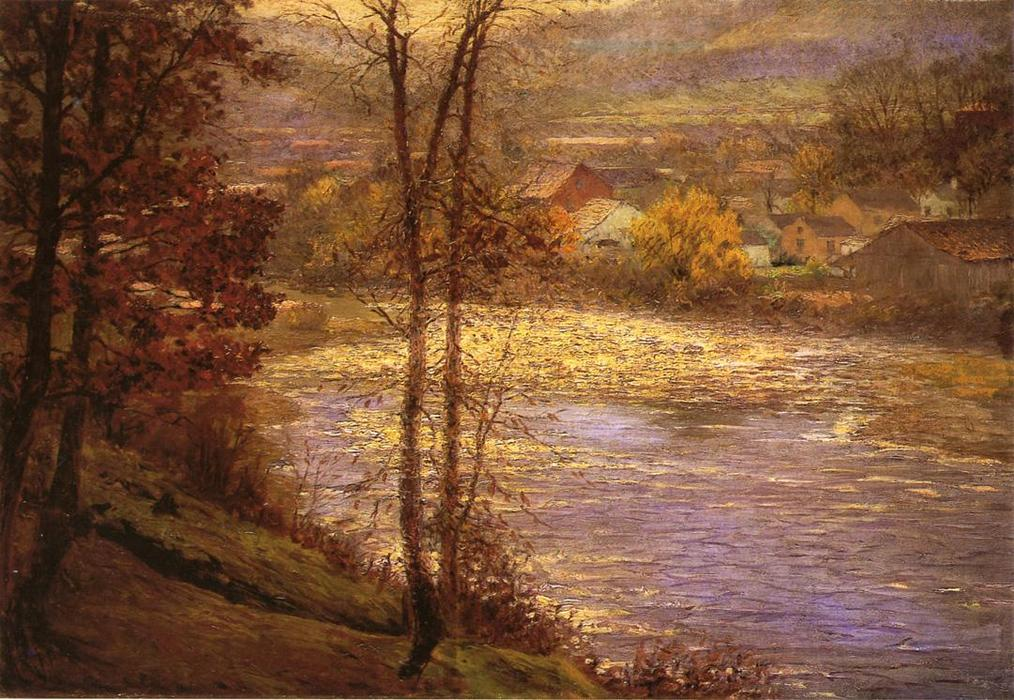 Wikioo.org - The Encyclopedia of Fine Arts - Painting, Artwork by John Ottis Adams - Morning on the Whitewater