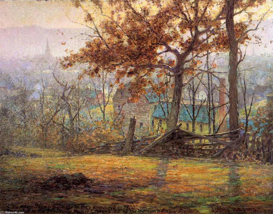 Wikioo.org - The Encyclopedia of Fine Arts - Painting, Artwork by John Ottis Adams - The Old Mills of Brookville