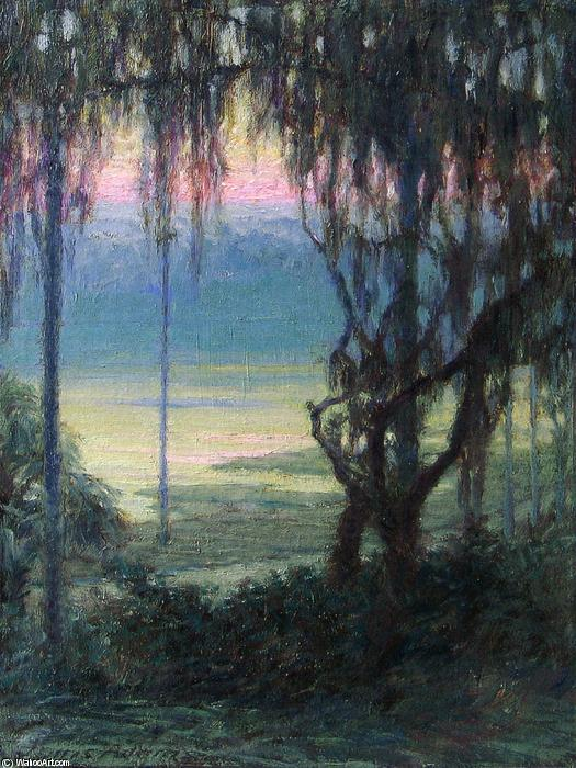 Wikioo.org - The Encyclopedia of Fine Arts - Painting, Artwork by John Ottis Adams - Twilight Along the Florida Coast