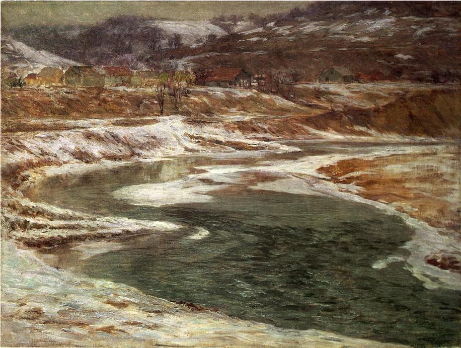 Wikioo.org - The Encyclopedia of Fine Arts - Painting, Artwork by John Ottis Adams - Winter - Brookville