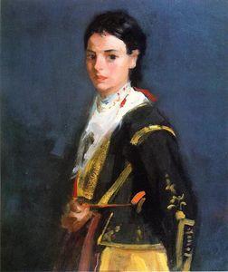 Segovia Girl, Half-Length