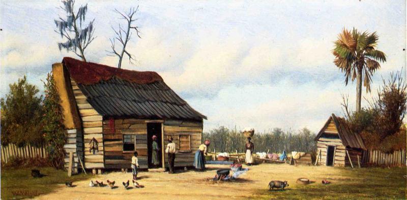 WikiOO.org - Encyclopedia of Fine Arts - Maľba, Artwork William Aiken Walker - Cabin Scene 3