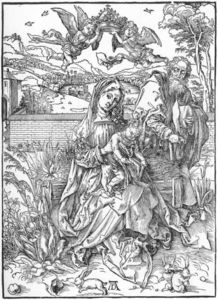 Holy Family with Three Hares