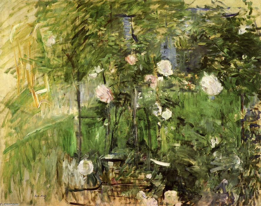 Wikioo.org - The Encyclopedia of Fine Arts - Painting, Artwork by Berthe Morisot - A Corner of the Rose Garden